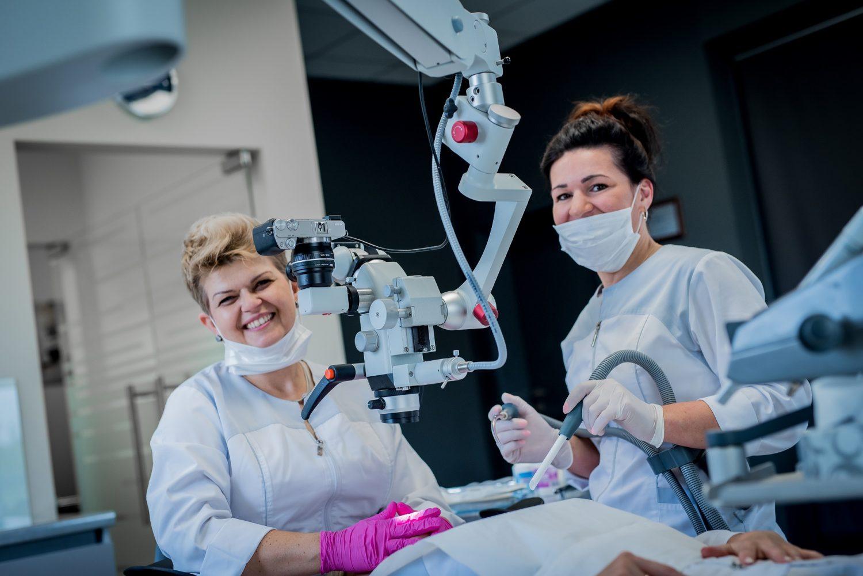 leczenie kanalowe pod mikroskopem - Lukow